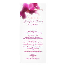 Pink Wedding Menu Personalized Announcements