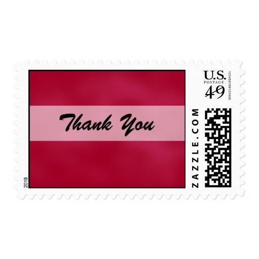Pink Wedding Postage Stamp