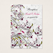 pink wedding Reception   Cards