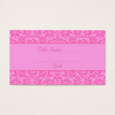 Pink Wedding Reception Table Place Cards at Zazzle