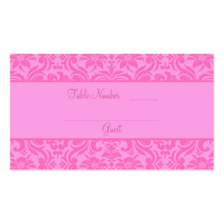 Pink Wedding Reception Table Place Cards Double-Sided Standard Business Cards (Pack Of 100)