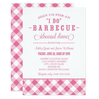 Pink Wedding Rehearsal Dinner | I Do BBQ Card