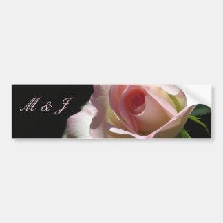 Pink Wedding Rose Bumper Stickers