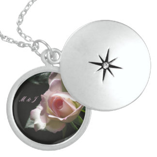 Pink Wedding Rose Locket Necklace