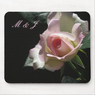 Pink Wedding Rose Mouse Pad