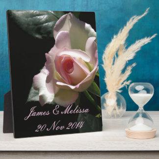 Pink Wedding Rose Plaque