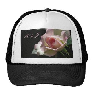 Pink Wedding Rose Trucker Hat
