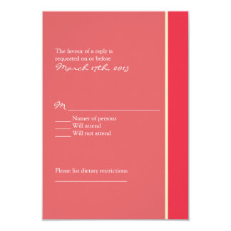 Pink Wedding RSVP Card