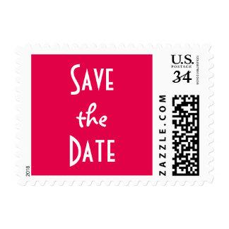 Pink Wedding Save the Date Postcard Postage Stamp