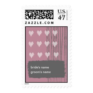 Pink Wedding Stamp