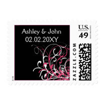 pink  wedding stamps