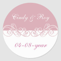 Pink wedding stickers