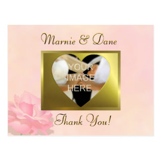 Pink Wedding Thank Your Postcard Flower Collection