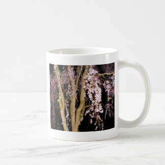 Pink Weeping Willow In The Night On A Spring Night Classic White Coffee Mug