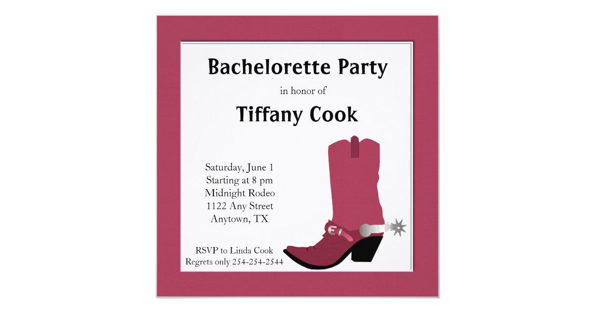 Fine Western Bachelorette Party Invitations Ornament - Invitation ...
