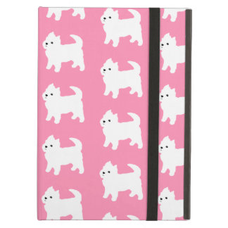 Pink Westie Pattern - West Highland Terrier Dogs iPad Air Cover