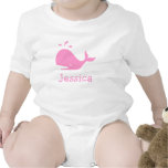 Pink whale baby clothes | Personalizable Baby Creeper