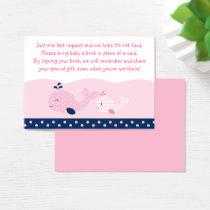 Pink Whale Book Request Cards