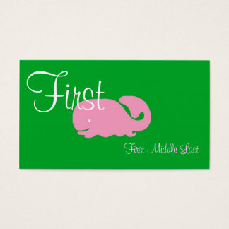 Pink Whale Girls Calling Card