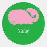 Pink Whale Girls Sticker