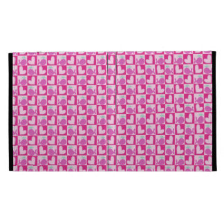 Pink Whale Heart Pattern iPad Case