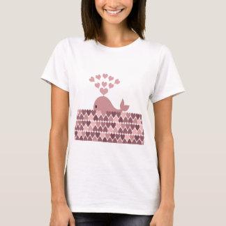 Pink Whale Love T-Shirt