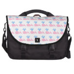 Pink Whale Pattern. Bags For Laptop