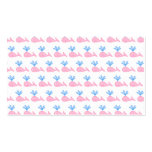 Pink Whale Pattern. Business Cards