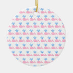 Pink Whale Pattern. Christmas Ornaments