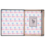 Pink Whale Pattern. iPad Cases
