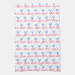 Pink Whale Pattern. Kitchen Towels