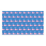Pink Whale Pattern on Blue. Business Card Templates