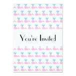 Pink Whale Pattern. Personalized Invitations