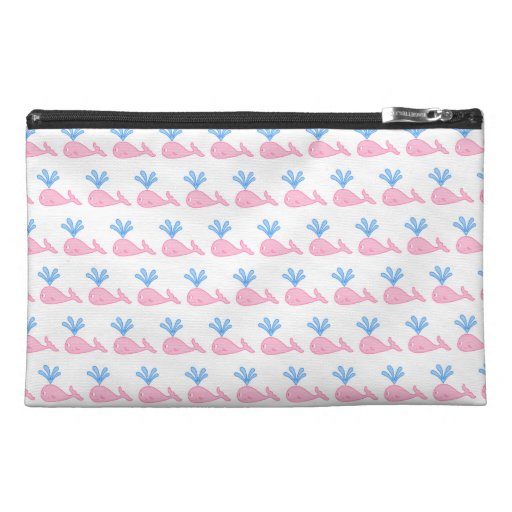 Pink Whale Pattern. Travel Accessories Bags
