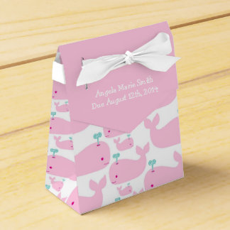 Pink Whale Theme Baby Shower Favor Box