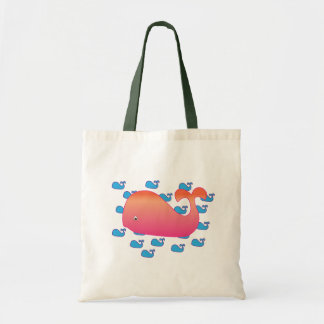 Pink Whale Tote Bag