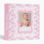 Pink Whales Photo Ready Baby Album Vinyl Binder