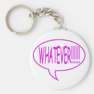 Pink Whatever Speech Bubble Keychain
