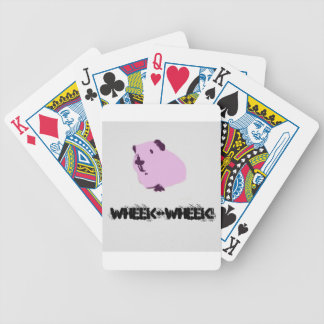 Pink wheek wheek guinea pig bicycle playing cards