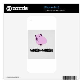 Pink wheek wheek guinea pig decals for iPhone 4S