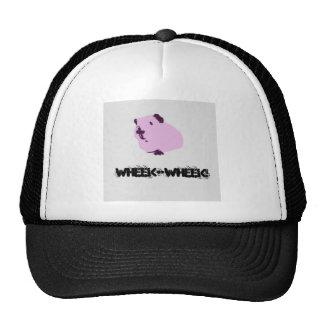 Pink wheek wheek guinea pig trucker hat