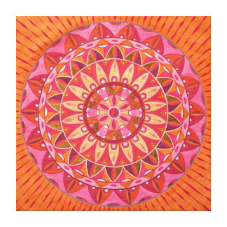 Pink wheel Mandala Canvas Print