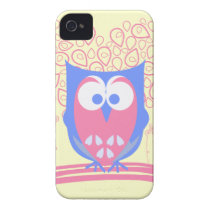 Pink Whimsical Cute Owl iPhone 4 4s case