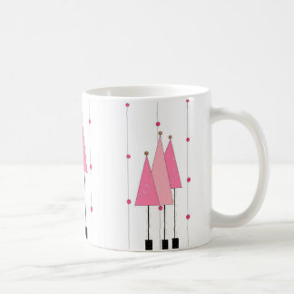Pink Whimsical Trees Coffee Mug