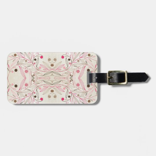 Pink Whimsy Bag Tag