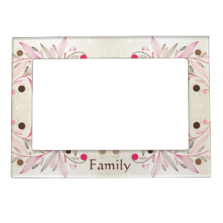 Pink Whimsy Picture Frame Magnets