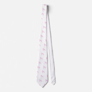 Pink Whippet Tie