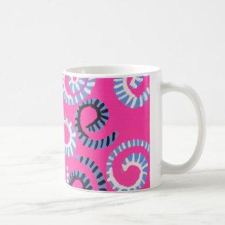 Pink Whirl Coffee Mugs