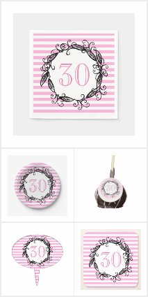 Pink White 30th