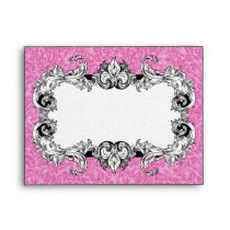 Pink & White A2 Gothic Baroque Envelopes